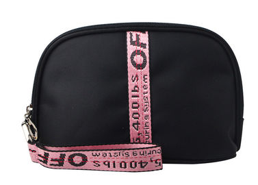 China High Density Polyester Travel Cosmetic Bags Light Weight With Embroidered Handle supplier
