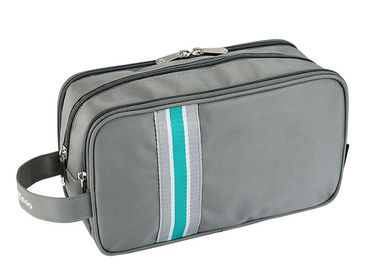 Men Travel Toiletry Bag Striped Pattern With 3 Layers Zipper And Multi Pockets