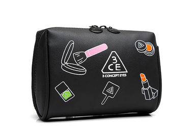Multiple Colors PVC Leather Custom Toiletry Bag / Travel Beauty Bag With Zipper