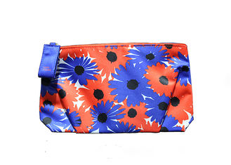 Printed Flower Cheap Promotional Toiletry Bag Hand Carry For Women / Kids