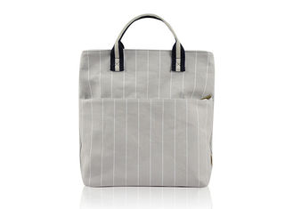 Vintage Stripe Canvas Tote Bags Sturdy Durable With Cotton Webbing Handle