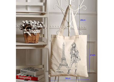 Cotton Shopping Canvas Bag Heavy Duty Simple Style With Large Capacity