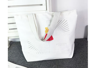 China Reusable Canvas Grocery Bags , Large Tote Shopper Bag Custom Brand Printed supplier
