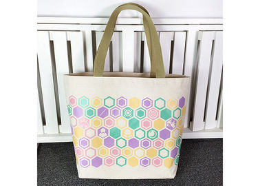 China Customized Cotton Canvas Tote Bag , Organic Cotton Tote Bags Plain Woven Fabric supplier