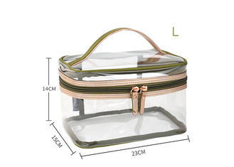 Easy Carrying Clear Cosmetic Bags For Travel Fashionable Design OEM Service
