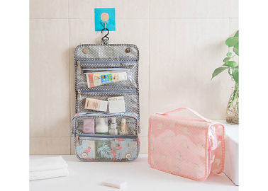 Fold Up Bathroom Toiletry Bag , Clear Hanging Bags With Larger Capacity