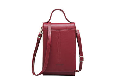Long Paragraph Slung Pu Leather Bag , Multi Functional Mobile Phone Purse
