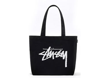 China Durable Cotton Tote Bags Black Cotton Fabric Natural Environmental Protection factory