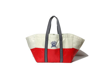China Color Stripes Canvas Tote Bags Large Capacity Inner Heat - Insulating factory