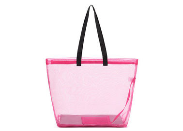 China Waterproof Polyester Shopping Bag , Mesh Tote Bags High Performance With Mesh Pouch factory
