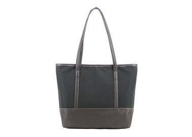 China Fashionable Canvas Tote Bags Custom Made Wear Resistant With Zippered Pocket factory