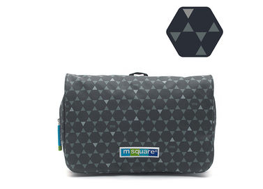 China Folding Suspensible Mens Toiletry Bag Double Layer Design PVC Material factory