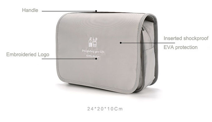 Portable Inserted Shockproof Travel Organizer Bag Folding Customized Logo With Hook