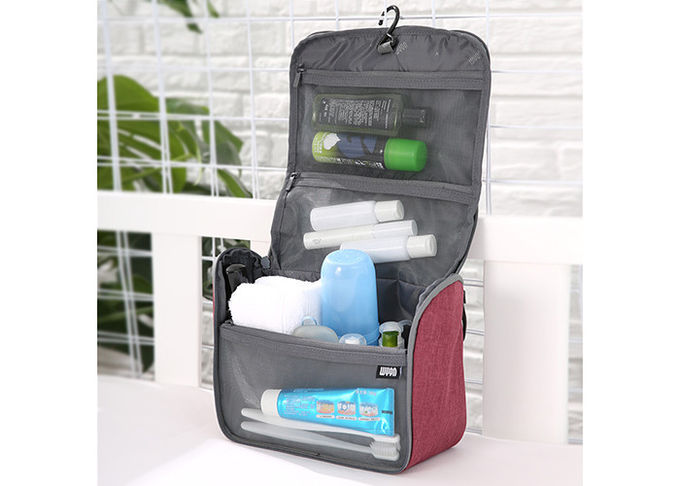 Waterproof Mens Toiletry Bag Customized Logo Available With Black Inside Lining